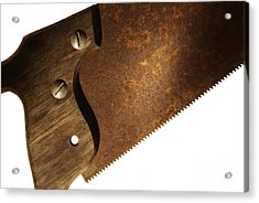 Carpenter Saw Acrylic Print by Tony Cordoza