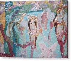 Carpet Fairies Acrylic Print by Judith Desrosiers