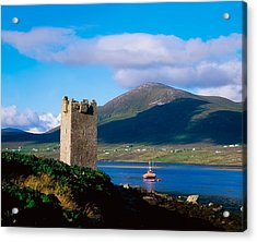Carrickkildavnet Castle, Achill Island Acrylic Print by The Irish Image Collection