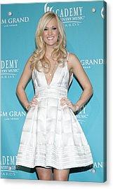 Carrie Underwood Wearing A Rafael Acrylic Print by Everett