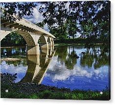 Carrollton Bridge Over The Wabash Acrylic Print by Jim Finch