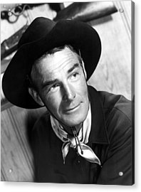 Carson City, Randolph Scott, 1952 Acrylic Print by Everett