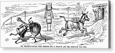 Cartoon: Telephone, 1886 Acrylic Print by Granger