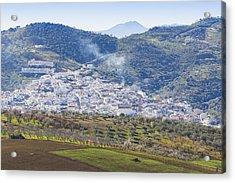 Casabermeja. White Village, Southern Spain. Acrylic Print by Ken Welsh