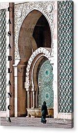 Casablanca Mosque Acrylic Print by Linda  Parker