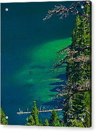 Cascade Lake Inlet Delta Acrylic Print