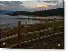 Cascade Lake Sunrise Acrylic Print by Larry Fry
