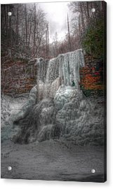 Cascades In Winter 3 Acrylic Print