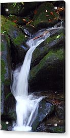 Cascading Angel Hair Acrylic Print by Michael Carrothers