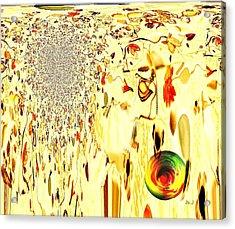 Cascading Glace Acrylic Print by Jan Steadman-Jackson