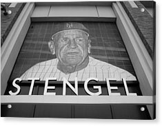 Casey Stengel In Black And White Acrylic Print by Rob Hans