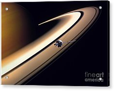 Cassini Spacecraft Acrylic Print by Gil Babin and Photo Researchers