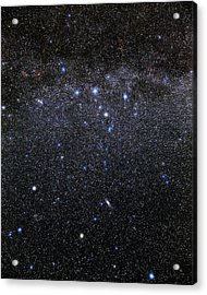 Cassiopeia And Andromeda Constellations Acrylic Print by Eckhard Slawik