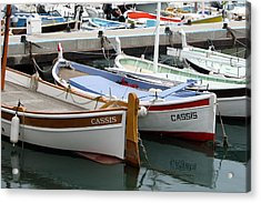 Acrylic Print featuring the photograph Cassis Harbor by Carla Parris