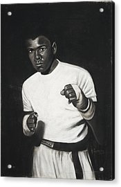 Cassius Clay Acrylic Print by L Cooper