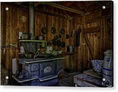 Cast Iron Wood Stove Acrylic Print by Lynn Palmer