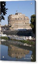 Castel Sant'angelo Castle. Rome Acrylic Print by Bernard Jaubert
