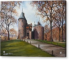 Castell Coch Acrylic Print by Andrew Read