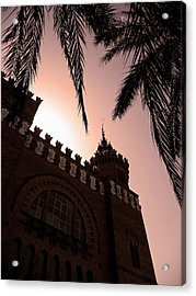Acrylic Print featuring the photograph Castell Dels Tres Dragons - Barcelona by Juergen Weiss
