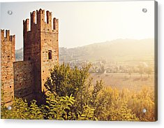 Castell'arquato Acrylic Print by Just a click