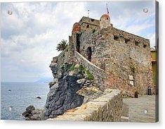 Castello Della Dragonara In Camogli Acrylic Print by Joana Kruse