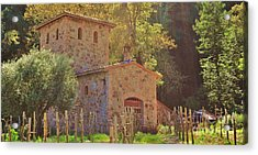 Castillo De Amoroso Farmhouse Napa Valley Acrylic Print by George Sylvia