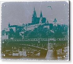 Castillo De Praga Acrylic Print by Naxart Studio