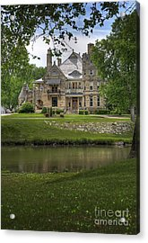 Castle Across River Acrylic Print by Fred Lassmann