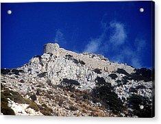 Castle Apalirou Acrylic Print by Andonis Katanos