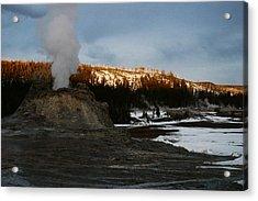 Castle Geyser Yellowstone National Park Acrylic Print