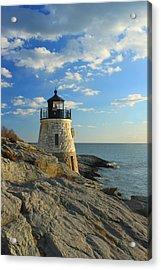 Castle Hill Lighthouse Newport Rhode Island Acrylic Print by John Burk
