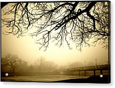 Acrylic Print featuring the photograph Castle In The Fog by Brian Duram