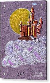 Castle Moon Acrylic Print
