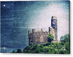 Castle Mouse Acrylic Print by Angela Doelling AD DESIGN Photo and PhotoArt