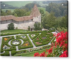 Castle Of Gruyeres Switzerland Acrylic Print by Marilyn Dunlap