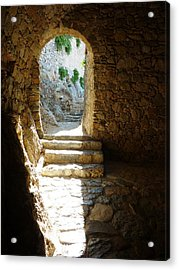 Acrylic Print featuring the photograph Castle Ruins by Therese Alcorn