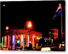 Castro Rainbows Acrylic Print by Steven I Lanzet