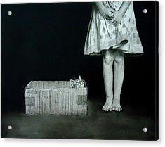 Cat In The Box Acrylic Print