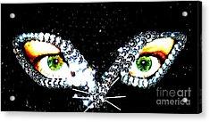 Cat Mask Acrylic Print by C Lythgo