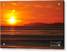 Acrylic Print featuring the photograph Catalina Sunset by Johanne Peale