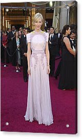 Cate Blanchett  Wearing A Givenchy Acrylic Print by Everett