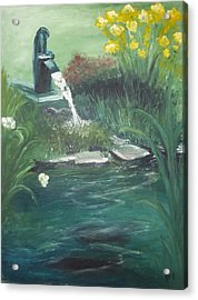 Acrylic Print featuring the painting Catfish by Angela Stout