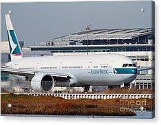 Cathay Pacific Airlines Jet Airplane At San Francisco International Airport Sfo . 7d11850 Acrylic Print by Wingsdomain Art and Photography