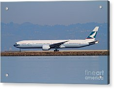 Cathay Pacific Airlines Jet Airplane At San Francisco International Airport Sfo . 7d11919 Acrylic Print by Wingsdomain Art and Photography