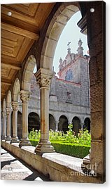 Cathedral Cloister Acrylic Print by Carlos Caetano