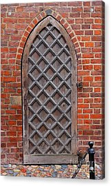 Cathedral Door In Gdansk Acrylic Print by Sophie Vigneault