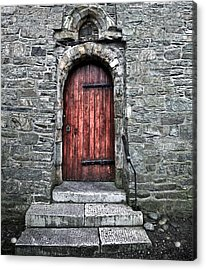 Cathedral Door Acrylic Print by Patrick  Flynn