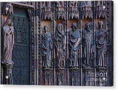 Cathedral In Strasbourg Details Acrylic Print