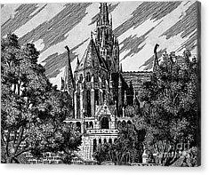 Cathedral Acrylic Print by Odon Czintos