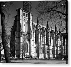 Cathedral Of Saint John The Divine, New Acrylic Print by Everett